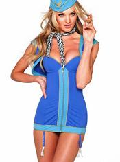 Disfraz sexy de azafata para Halloween