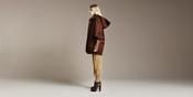 Abrigo con capucha de zara