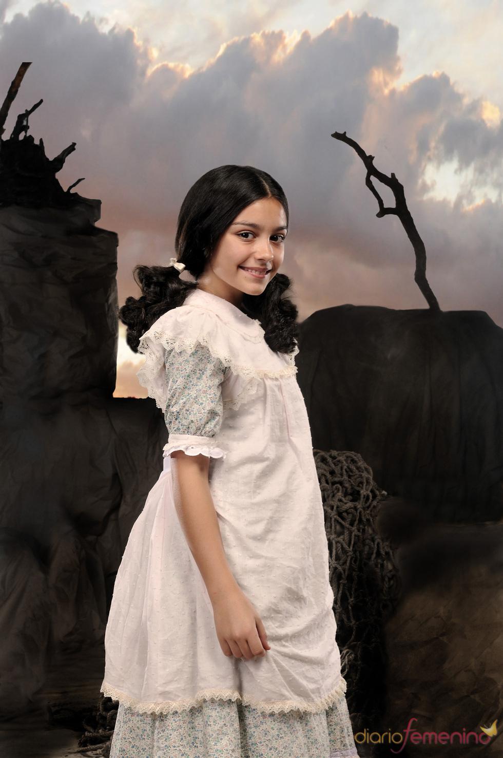 Carla Díaz en el rodaje de 'Tierra de Lobos'