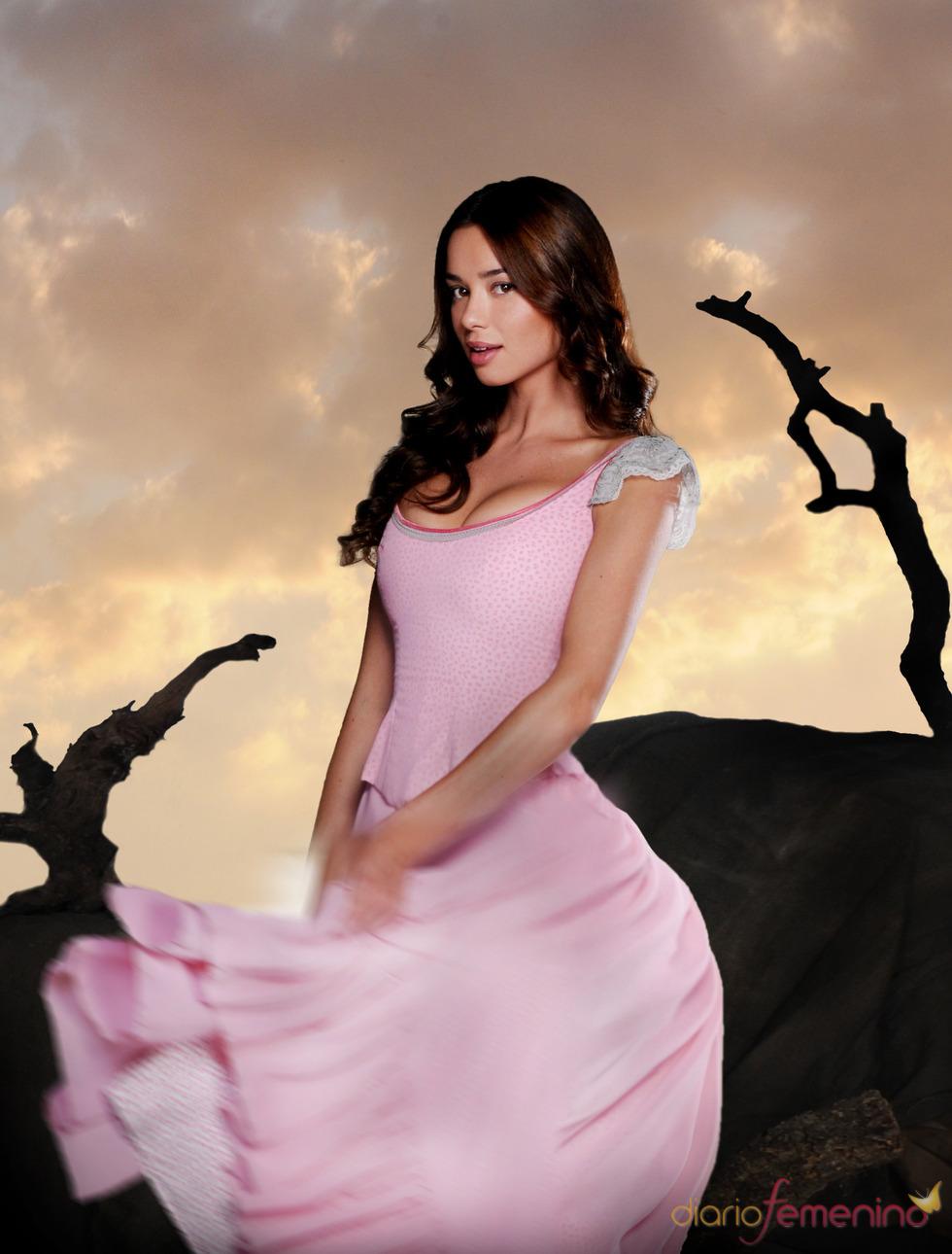 Dafne Fernández en el rodaje de 'Tierra de Lobos'