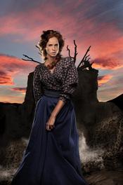 María Castro en el rodaje de 'Tierra de Lobos'