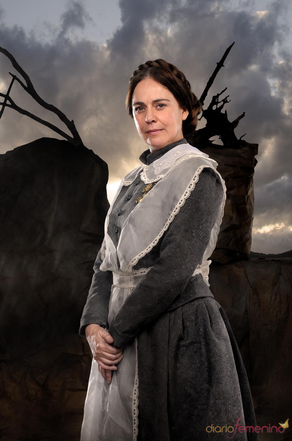 Yolanda Ulloa en el rodaje de 'Tierra de Lobos'
