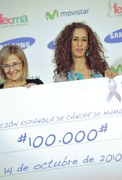 Rosario Flores, contra el cáncer de mama