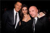Stefano Gabbana, Penélope Cruz y Domenico Dolce juntos