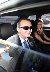 Antonio Morales, hijo de Rocío Durcal, llega a su boda