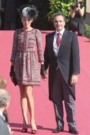 Nieves Álvarez derrocha elegancia en la boda del Duque de Feria