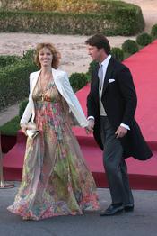 Eva Herzigova en la boda de Rafael Medina