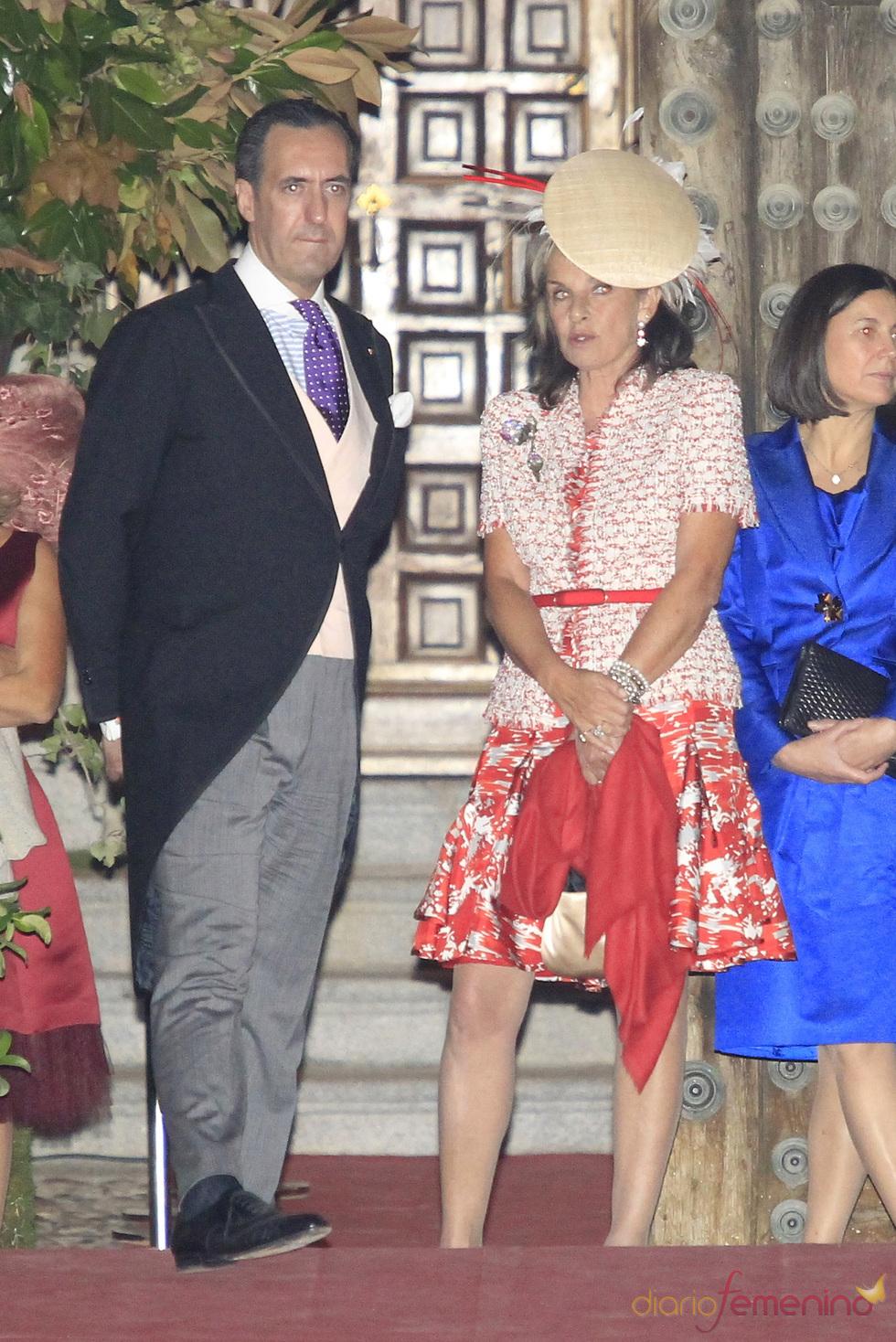 Jaime de Marichalar en la boda de Rafael Medina