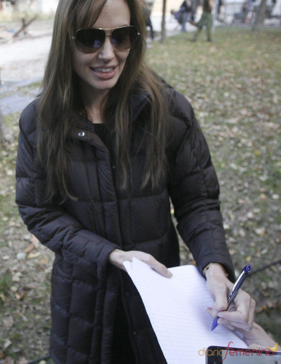 Angelina Jolie prosigue el rodaje en Bosnia