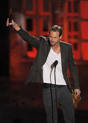 Alexander Skarsgard recoge el premio al mejor actor de terror en los Scream 2010