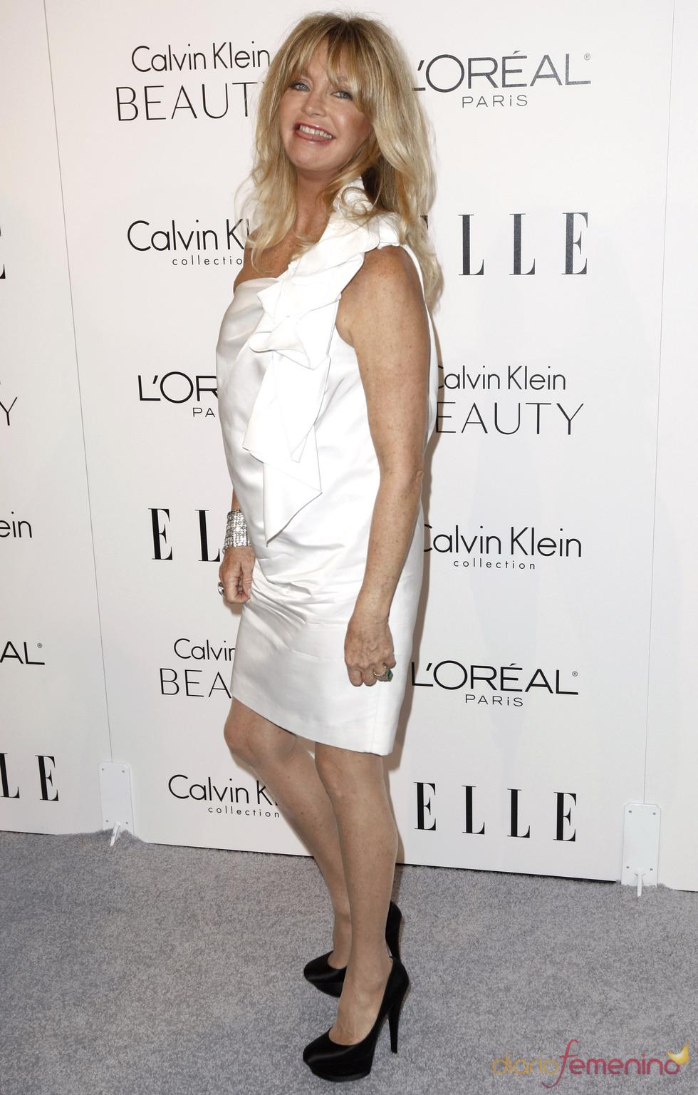 Goldie Hawn en la fiesta Elle 2010