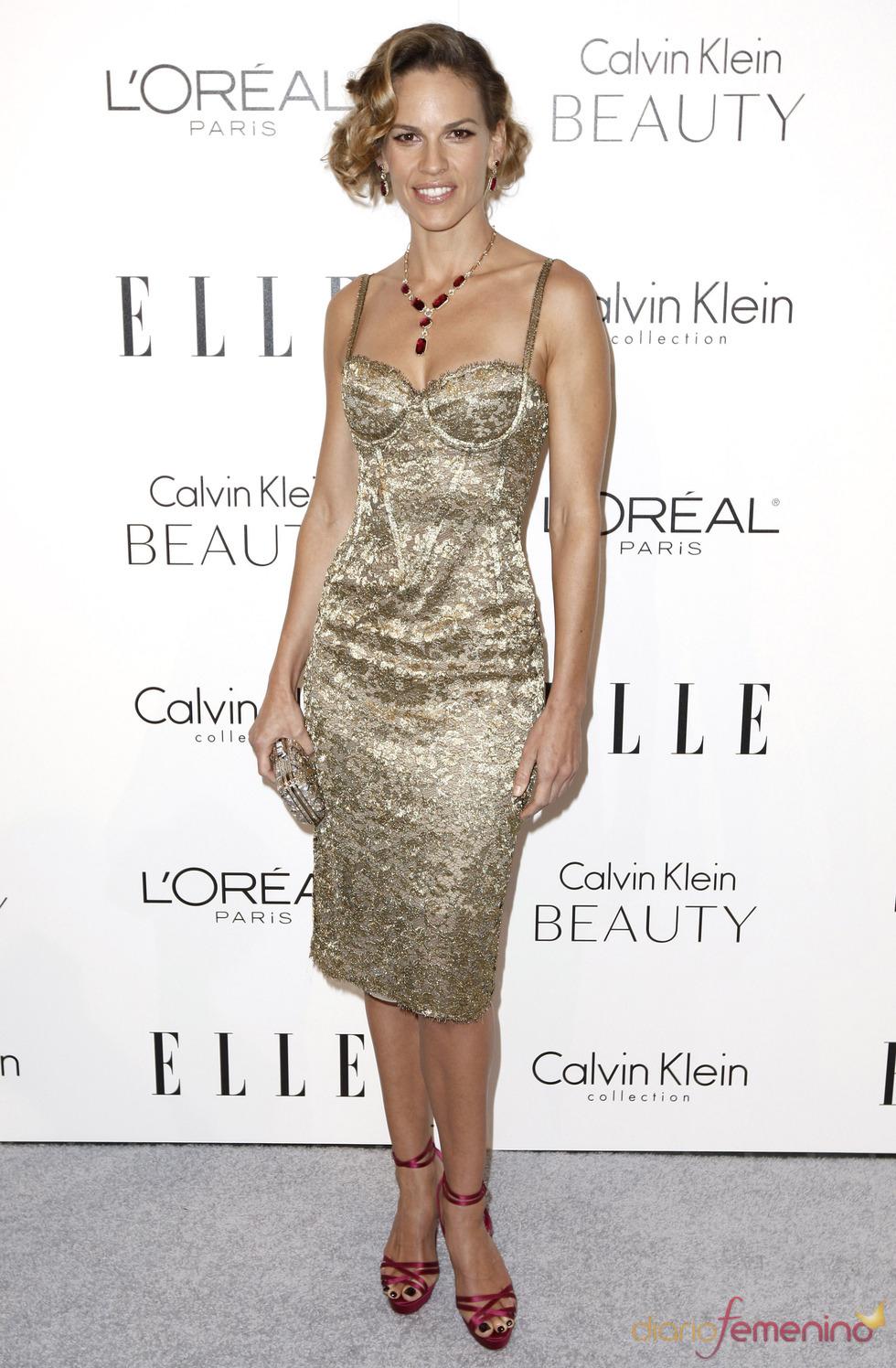 Hilary Swank en la fiesta Elle 2010