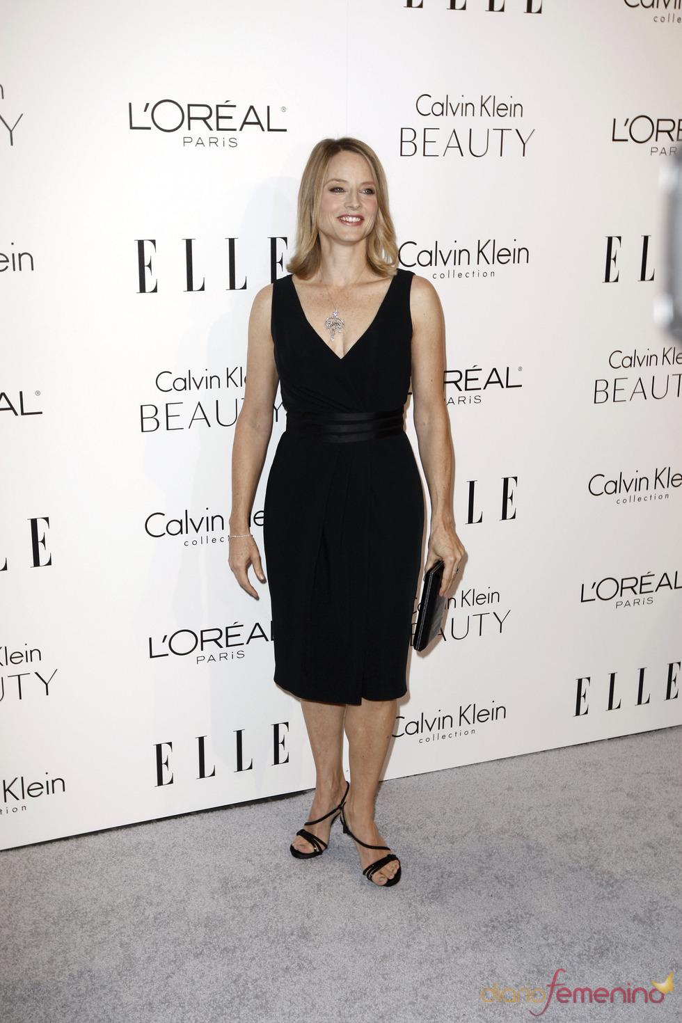 Jodie Foster en la fiesta Elle