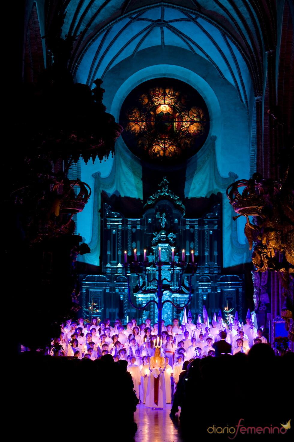 Celebración del Día de Santa Lucía, Suecia