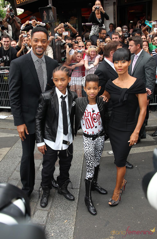 La familia de Will Smith al completo