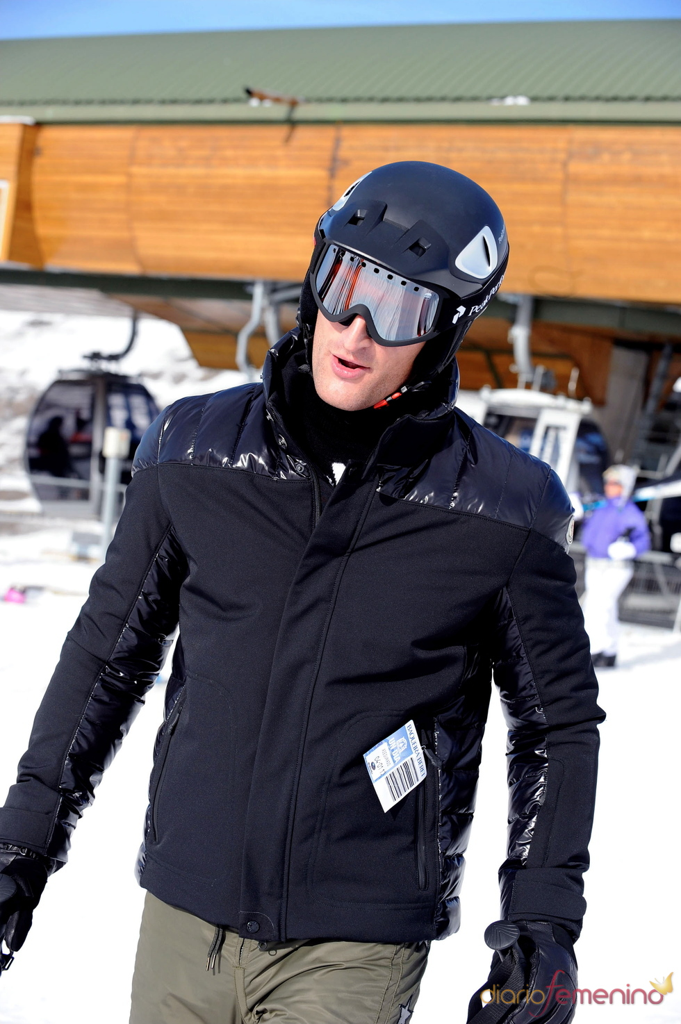 Rafael Medina en la nieve