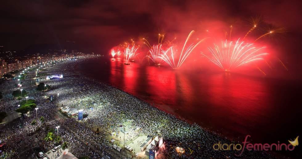 Copacabana, Brazil, la noche de fin de año