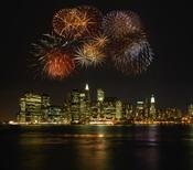 El cielo de Manhattan la noche de fin de año
