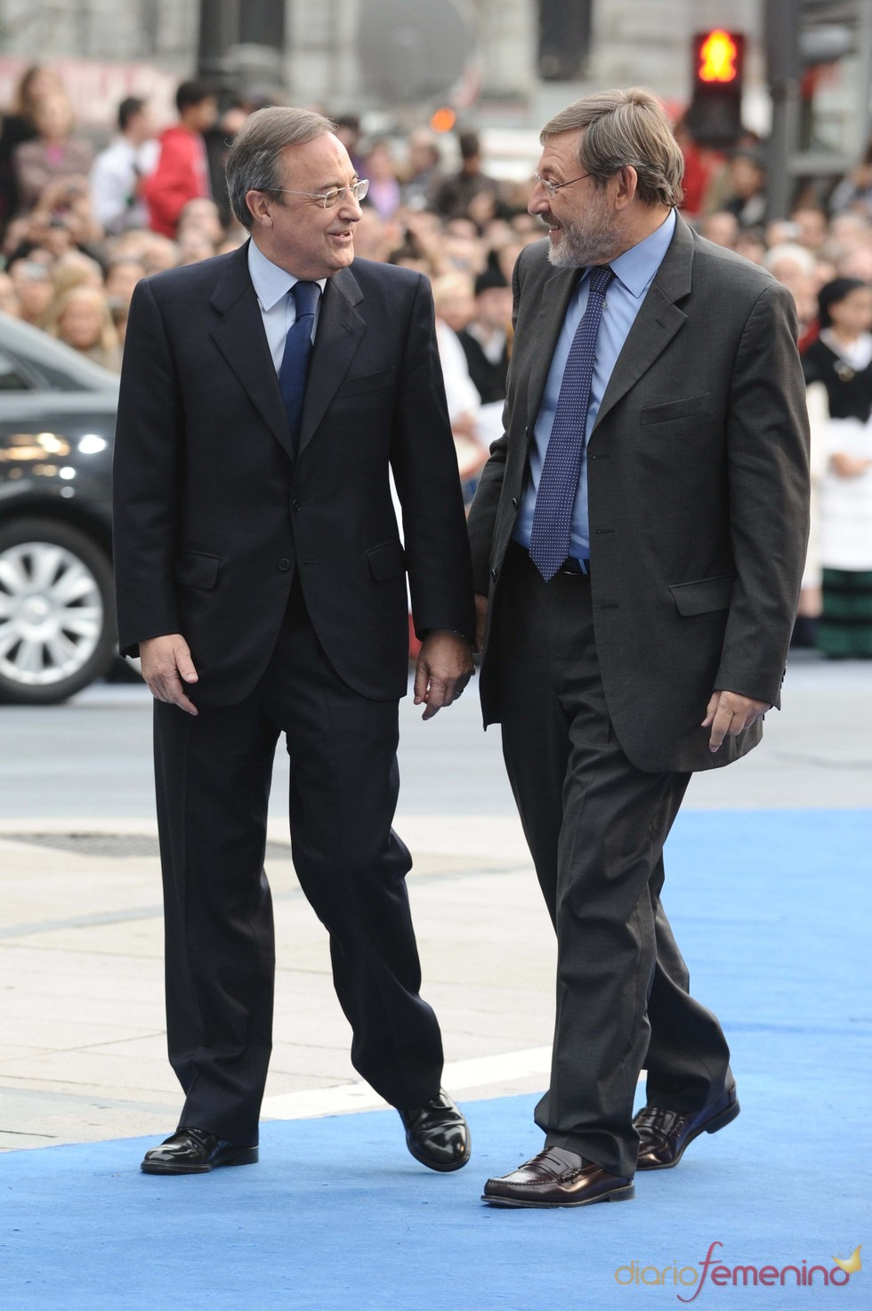 Florentino Pérez y Jaime Lissavetzky en los premios Príncipe de Asturias 2010