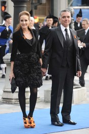 Juan Ramon Lucas y Sandra Ibarra en los premios Príncipe de Asturias 2010