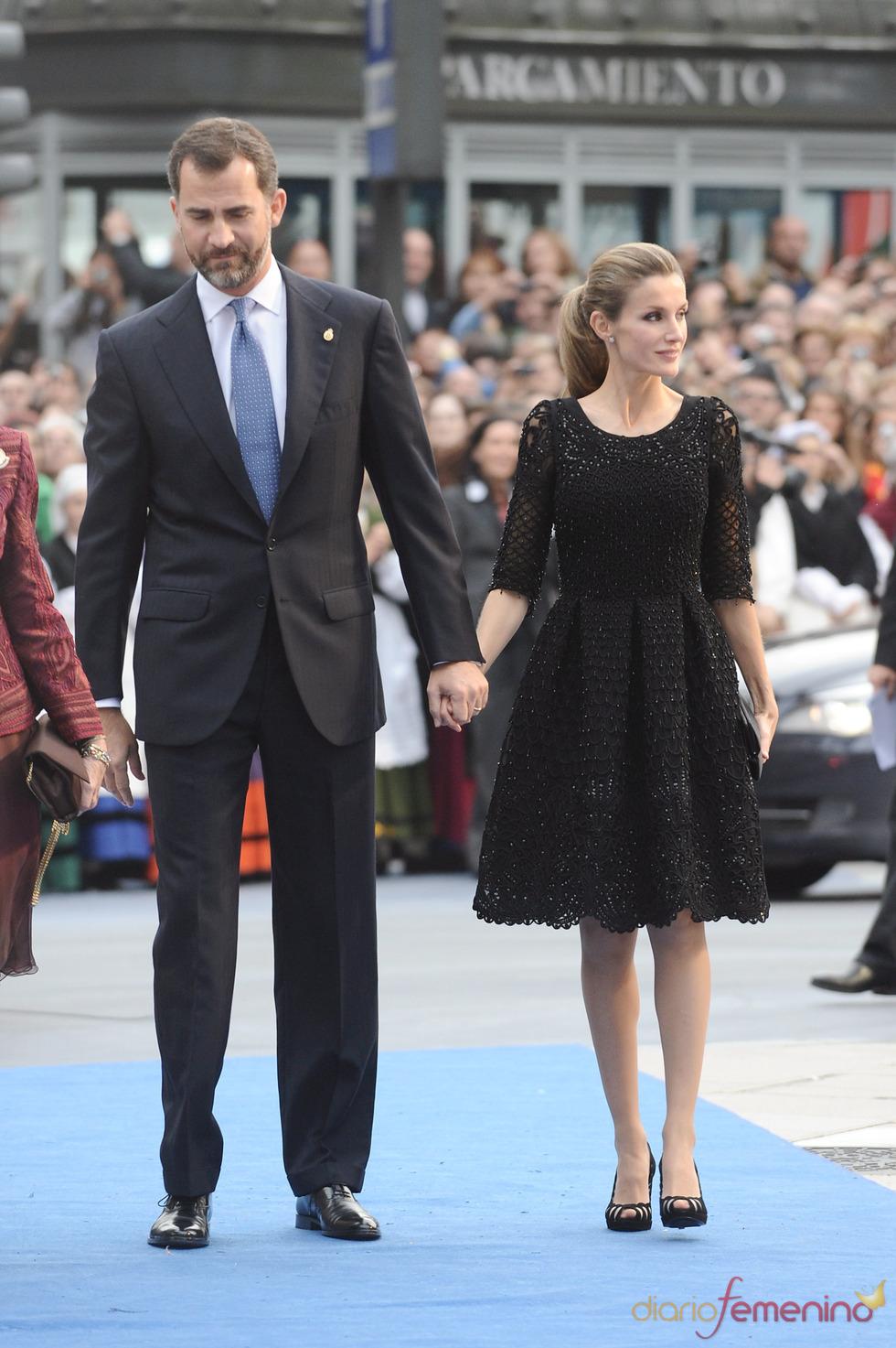 Felipe y Letizia en los premios Príncipe de Asturias 2010