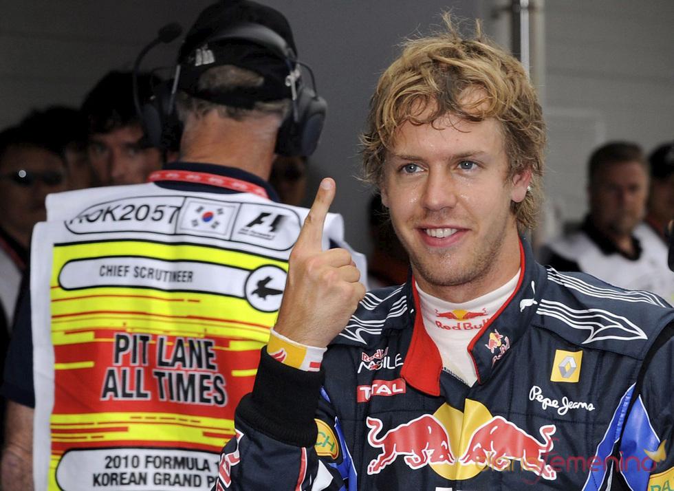 Sebastian Vettel en el Gran Premio de Corea