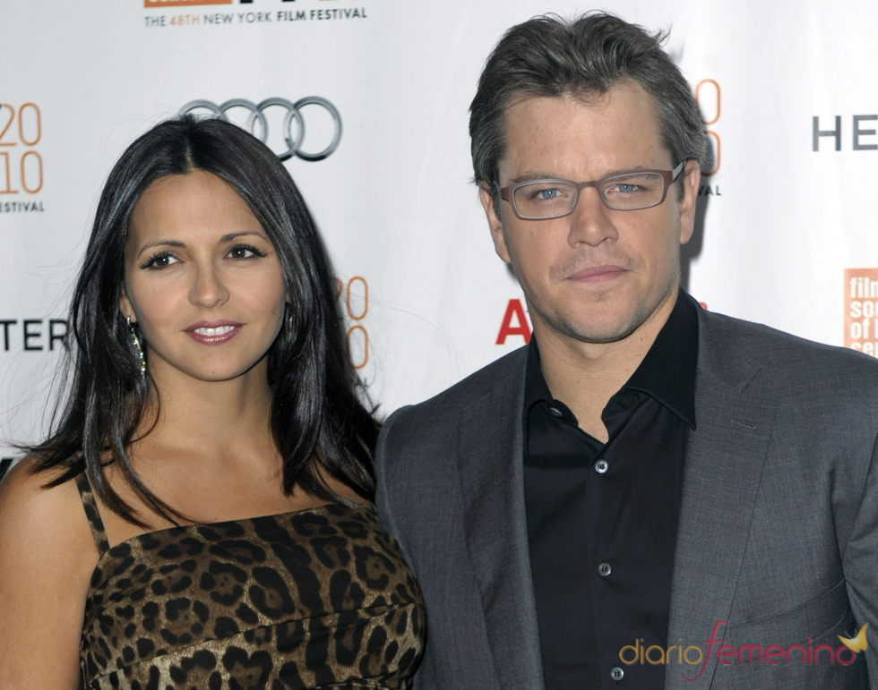 Matt Damon y su esposa Luciana Bozán