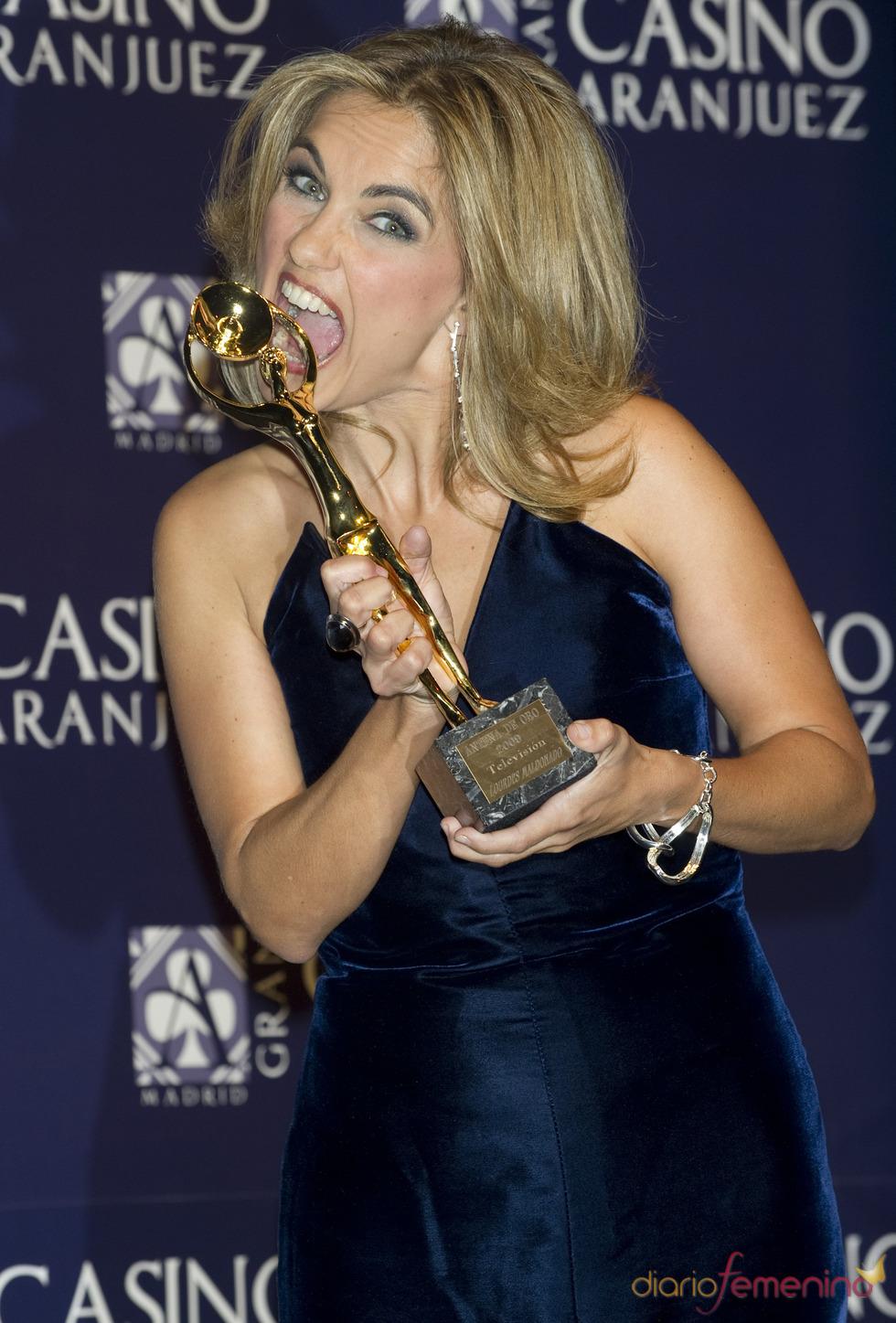 Lourdes Maldonado en los premios Antena de Oro 2010