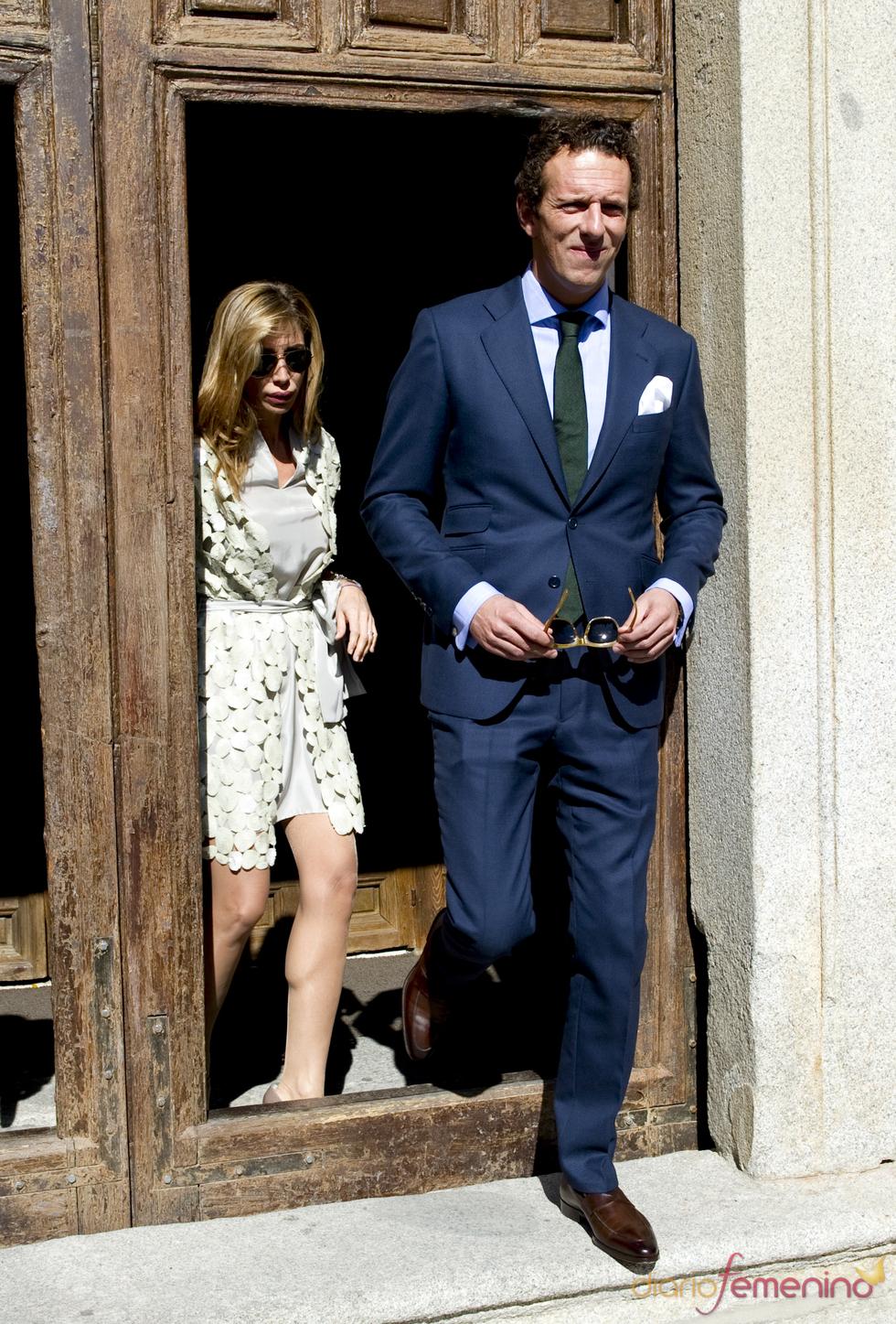 Joaquin Prat y su novia en el bautizo de Eric Thyssen