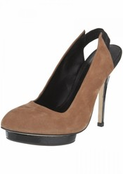 Zapato con plataforma delantera color camel de TopShop