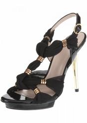 Sandalias en dorado y negro de TopShop