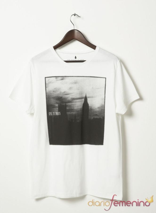 Camiseta con vista de ciudad de TopShop