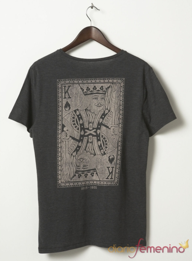 Camiseta 'baraja de póker' de TopShop