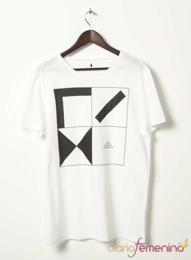 Camiseta con estampado geométrico de TopShop
