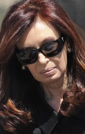 El dolor de la viuda Cristina Fernández