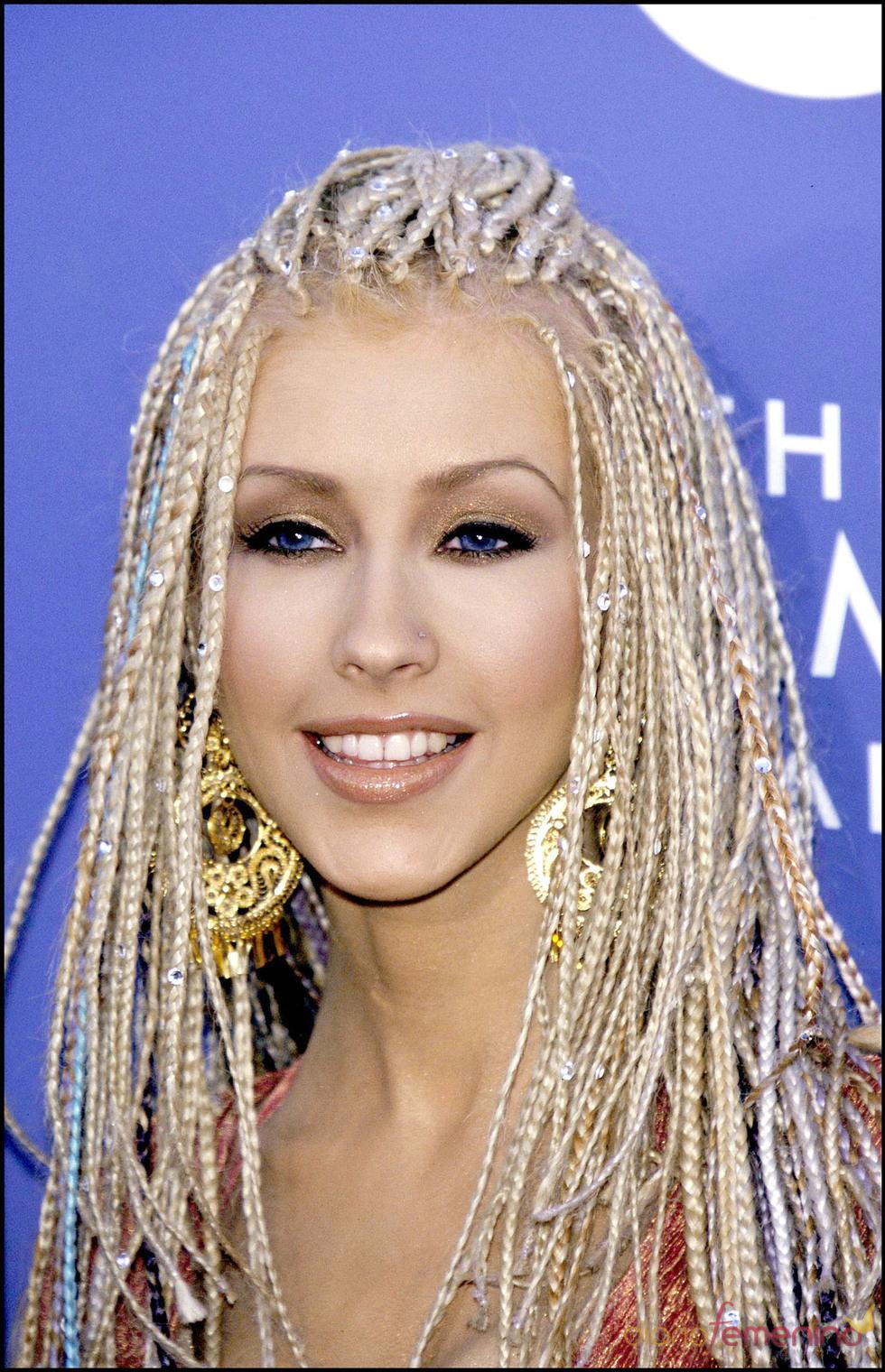 Christina Aguilera con trenzas