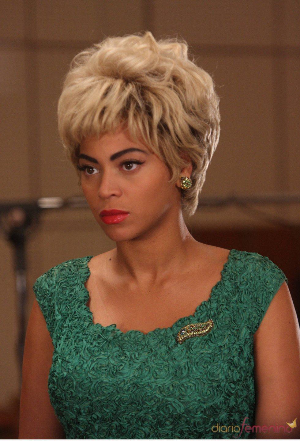 Beyonce durante el rodaje de 'Cadillac Records'