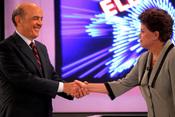 Dilma Rousseff y el opositor José Serra