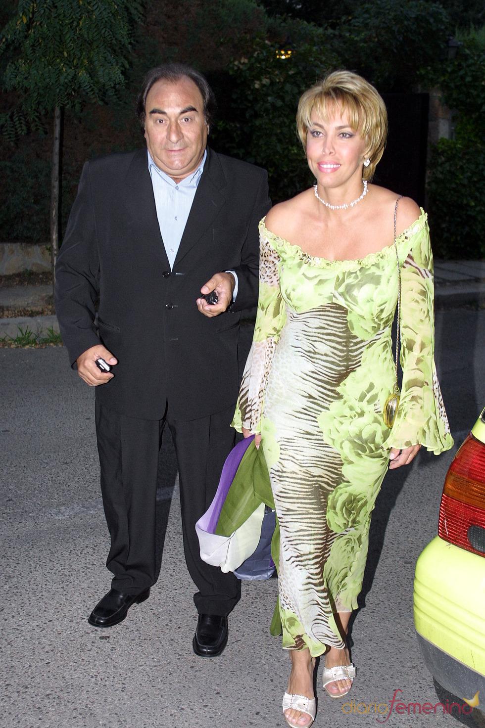 Carla Duval con su marido