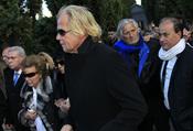 Matthias Kühn y Marc Ostarcevic en el entierro de Carla Duval