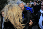 Norma Duval y Marc Ostarcevic juntos en el entierro de Carla Duval
