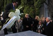 Entierro de Carla Duval en el cementerio de San Isidro