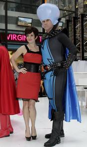 Tina Fey y Will Ferrell se disfrazan de Megamind en Halloween
