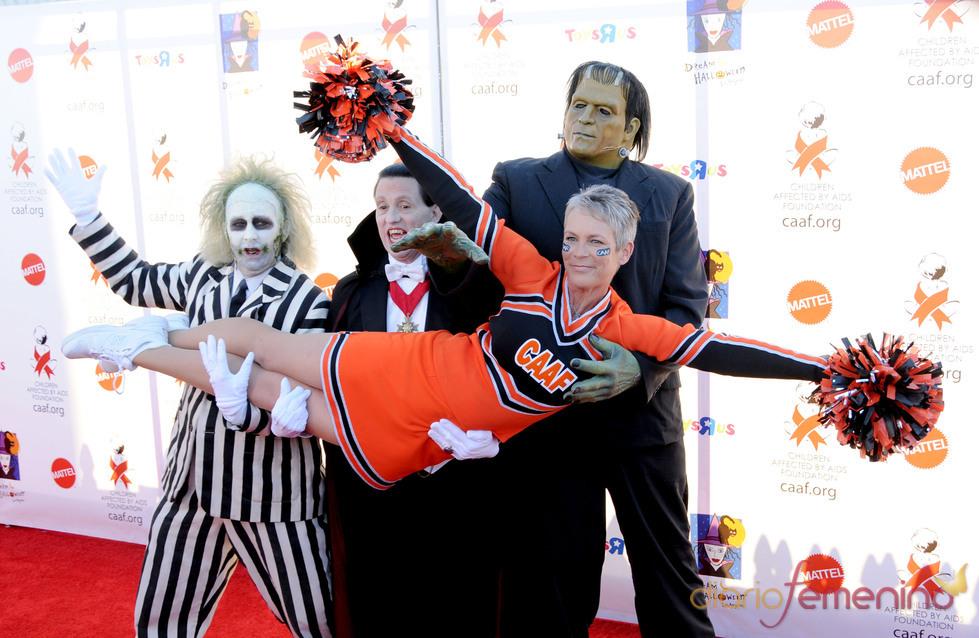 Jamie Lee Curtis de animadora en Halloween