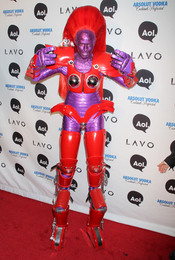 Heidi Klum de robot en Halloween