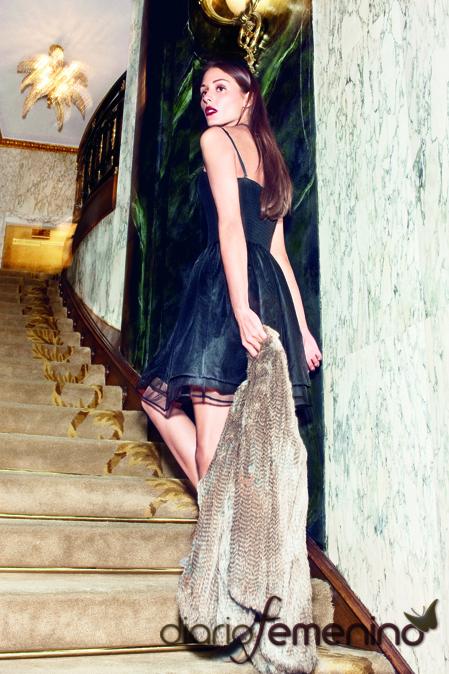 Olivia Palermo con vestido de fiesta de Mango