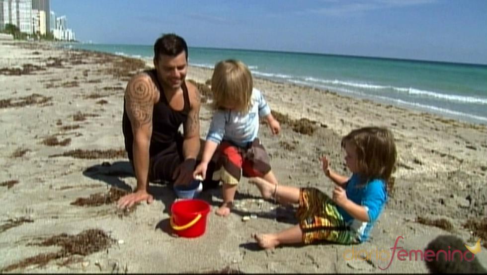 Ricky Martin orgulloso de sus hijos