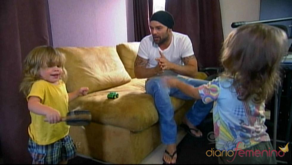 Ricky Martin disfruta de sus hijos