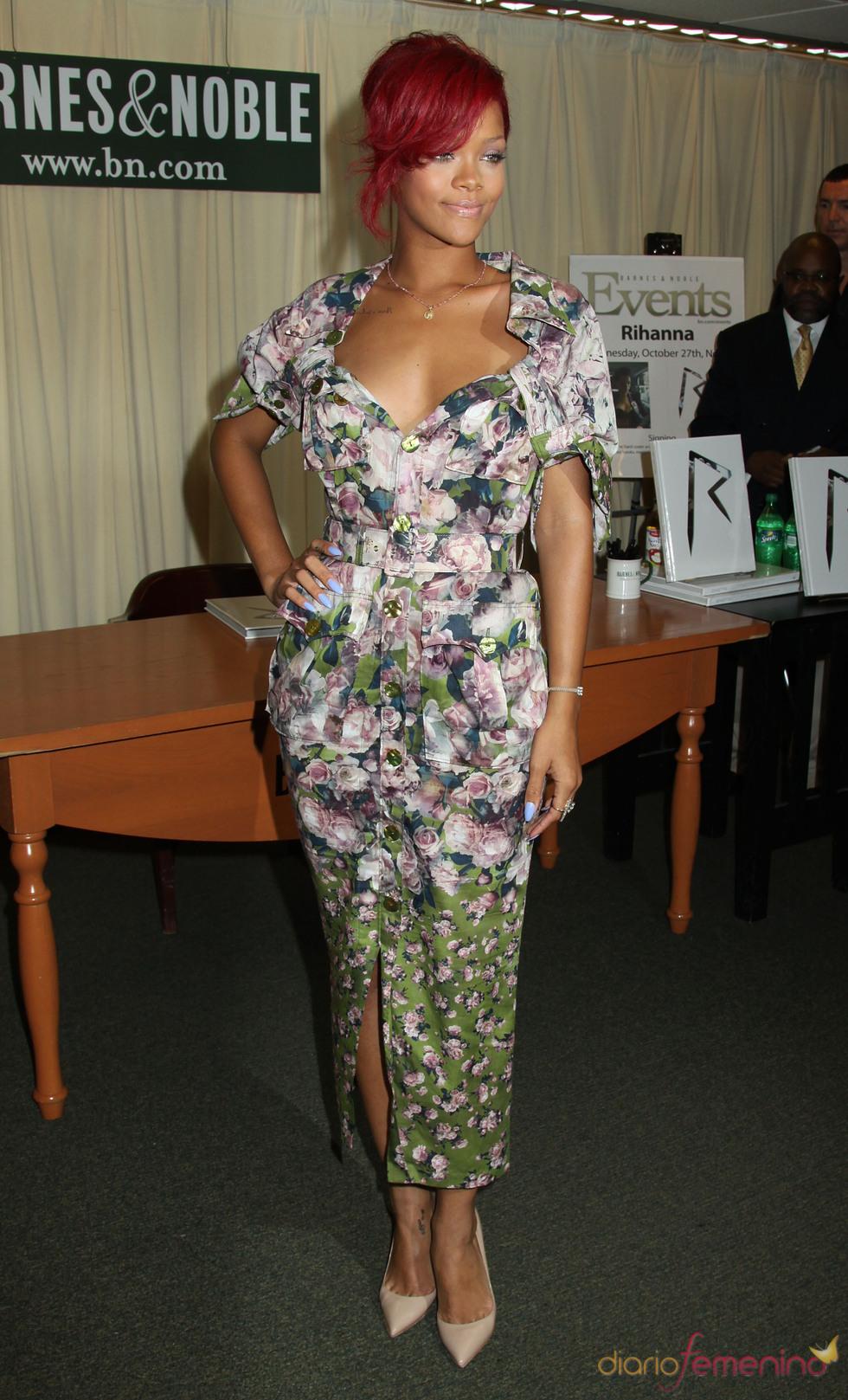 Rihanna durante la presentación de su libro