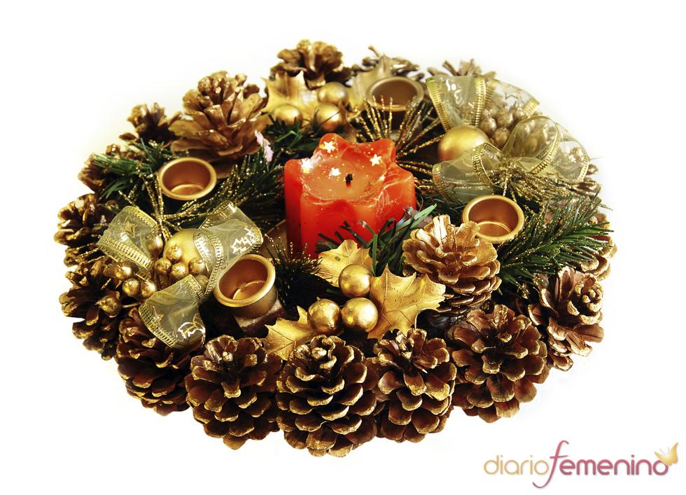 Centro de mesa para Navidad - Fotos de hogar en Diario Femenino